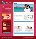 Voorbeeld van Dating and Love_237 Webdesign