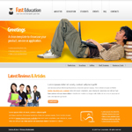 Voorbeeld van Education and Kids_250 Webdesign
