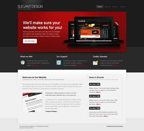 Website laten maken met Clean en Corperate 194 webdesign