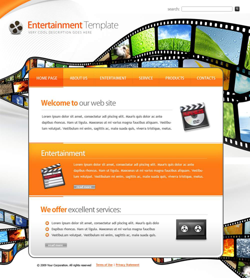 Website laten maken met Entertainment en Media  262 webdesign