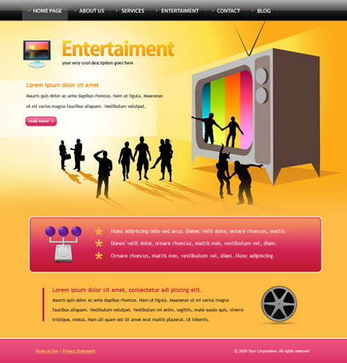 Website laten maken met Entertainment en Media  270 webdesign